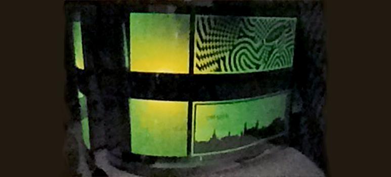 OLED mellan ultratunna glas tillverkad i kontinuerlig process