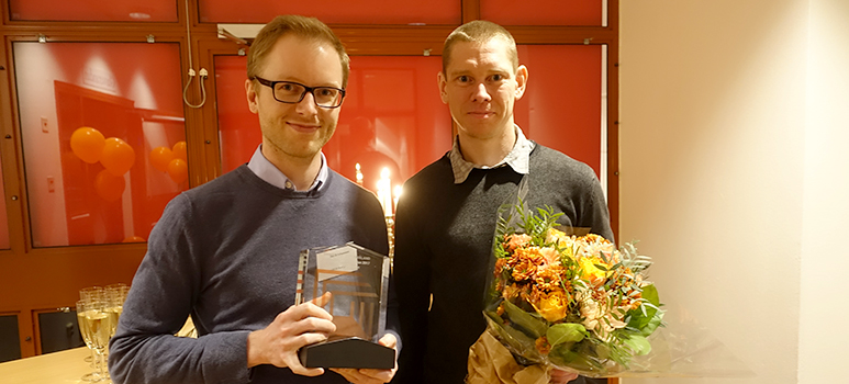 David Johansson OBOS och Jerry Eriksson RISE Glas