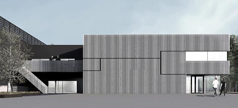 Rendering ny batterifabrik Växjö